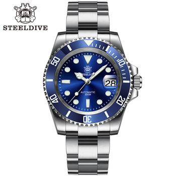 SD1953 Stainless Steel NH35 Watch Steeldive Top Brand Sapphire Glass Men Dive Watches reloj hombre