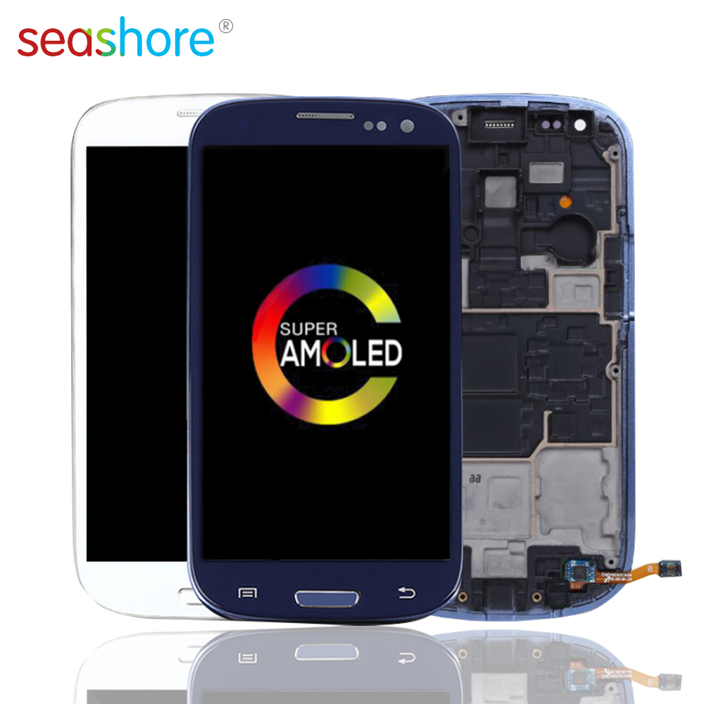 ORIGINAL For SAMSUNG Galaxy S3 Mini LCD Touch Screen Digitizer Assembly For Samsung i8190 Display withFrame Replacement GT-I8195 image