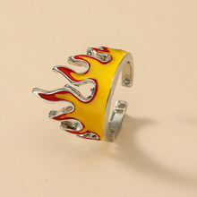 Мужское металлическое кольцо в стиле панк с огнем в стиле хип-хоп