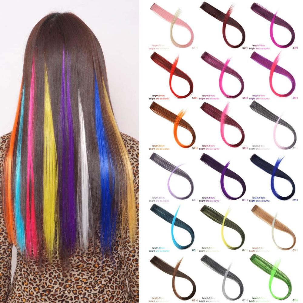 37Colors 22inch Hair Accessories Headbands Bands For Women Child Girl Synthetic Long Straight Synthetic Hair Clip