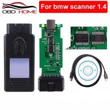Obd2 para bmw scanner 1.4.0 leitor de código obd2 scanner diagnóstico para bmw 1.4 usb interface de diagnóstico desbloquear versão a + + chip