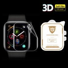 3D הידרוג ל סרט מלא קצה כיסוי רך מסך מגן מגן עבור iwatch אפל שעון סדרת 2/3/4/5/6/SE 38mm 42mm 40mm 44mm