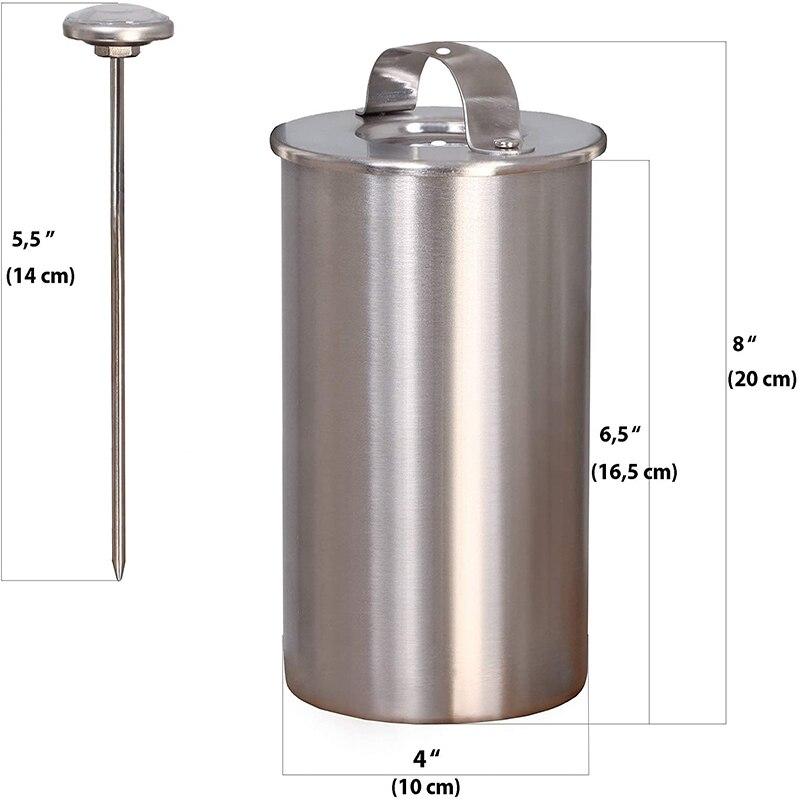 С термометром круглая форма нержавеющая сталь пресс для ветчины