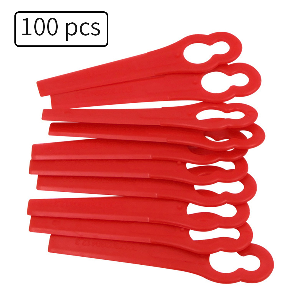 100pcs Red Replace Plastic Blades Pendants Cutter For Florabest Cordless Grass Trimmer Brushcutter Garden Tool Accessories
