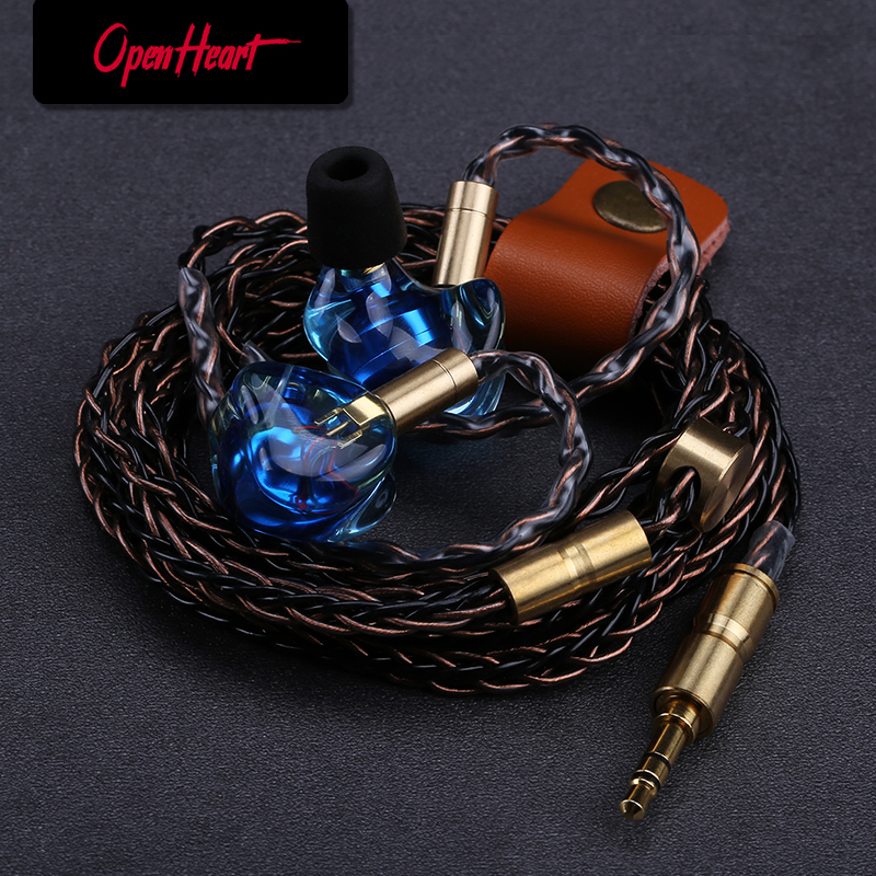 OPENHEART Resin Earbuds with mmcx Good-looking HIFI High Quality Audio  Wired Headset In-ear Earphones DJ Heavy Bass Earpieces