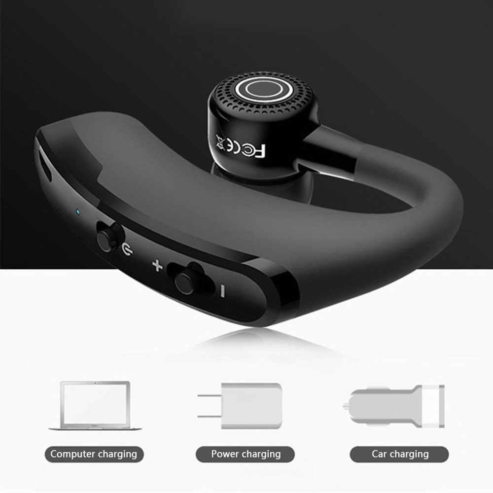 V9 אלחוטי מונו סטריאו Bluetooth אוזניות הפחתת רעש ספורט ועסקים אוזניות עבור iPhone Huawei Xiaomi סמסונג