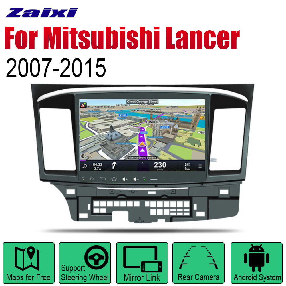 ZaiXi Android 2 Din Auto Radio For Mitsubishi Lancer 2007~2015 Car Multimedia Player GPS Navigation System Radio Stereo image