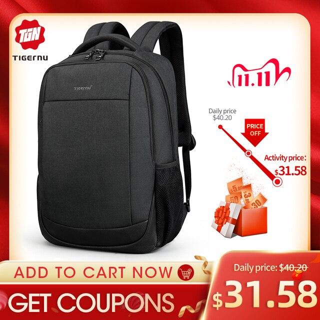 "Tigernu Brand USB Charging Male Backpack Anti Theft  15.6""Laptop Business Backpack Bag Women School Bag Mochila Men Travel Bags"