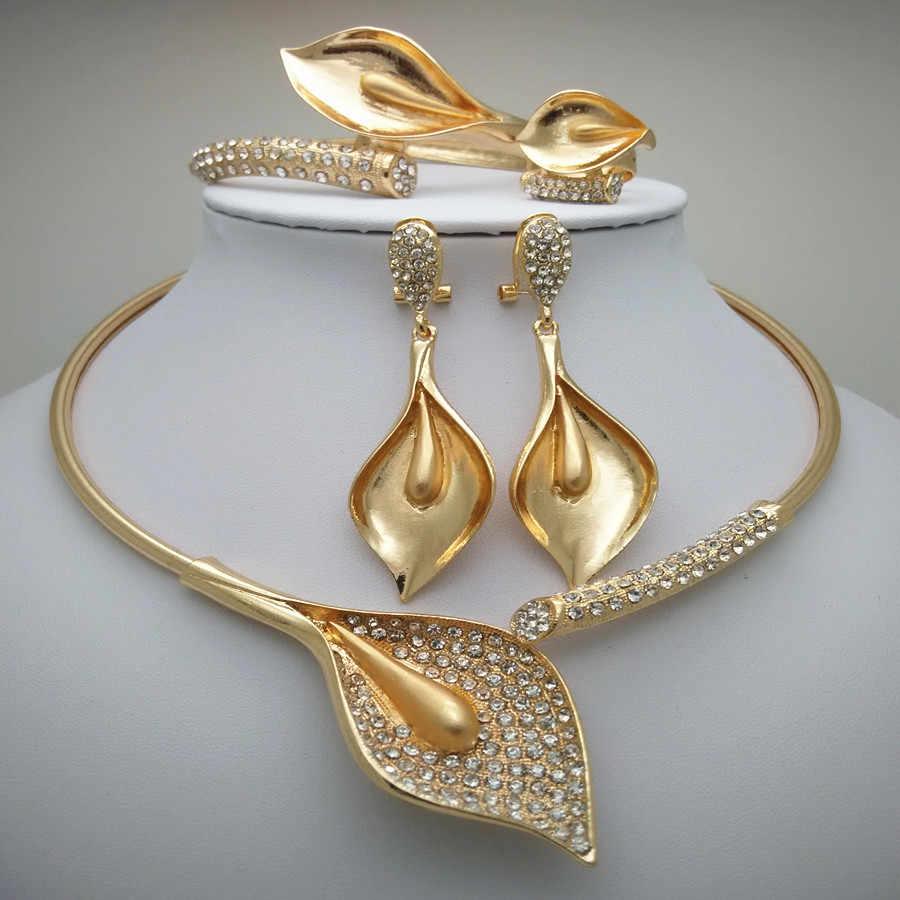 Reino ma moda nigeriano mulher casamento contas africanas conjunto de jóias cor do ouro moda dubai cor do ouro presente de noiva