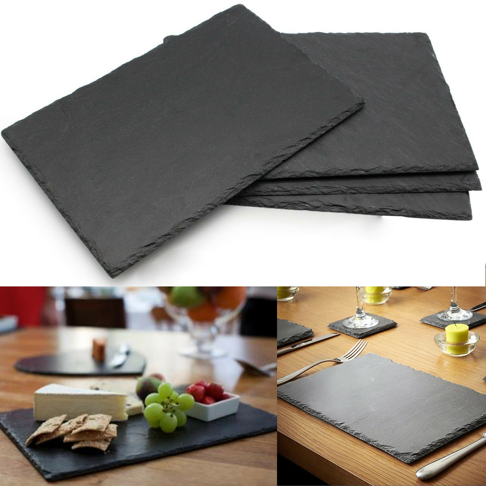 30 Natural Slate Placemats Handcrafted Table Place Mats Platters