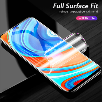 100pcs 3D Curved Film For Xiaomi Redmi Note 9s 9 Pro max Screen Protector Full Cover Explosion proof Hydrogel Film Not Glass