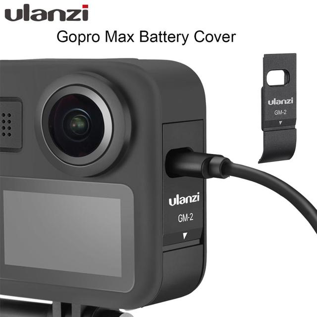 Ulanzi GM 2 Gopro Max Battery Cover Detachable Battery Lid Type C Charging Port for GoPro Max Accessories