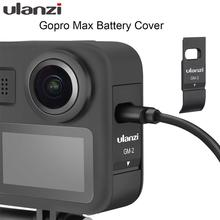 Ulanzi GM 2 gopro max bateria capa destacável tampa da bateria tipo c porto de carregamento para gopro max acessórios