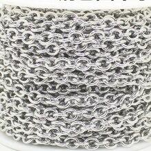 10 metros/lote aço inoxidável redondo cabo corrente colar de ligação em massa corrente solta corrente de aço inoxidável diy que faz