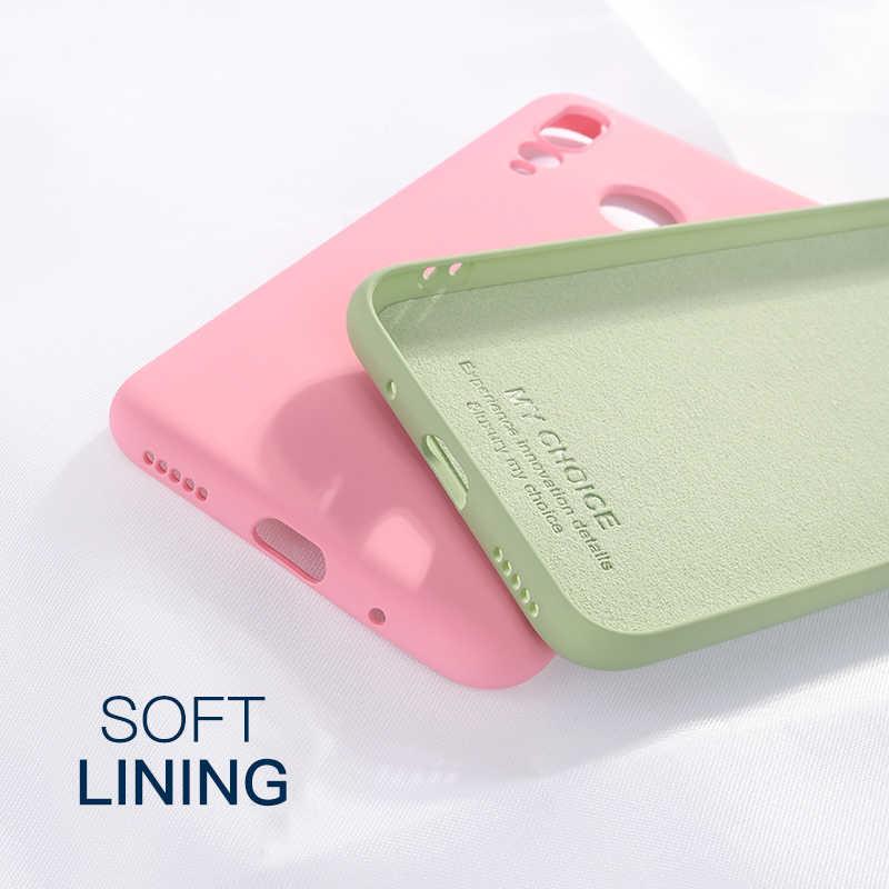 Жидкий силиконовый Оригинальный чехол для Xiaomi mi 9 SE 8 Lite A2 9T mi 9 mi X 2 2S Play mi 9T Red mi Note 7 6 K20 Pro 7A 6A CC9 мягкий чехол