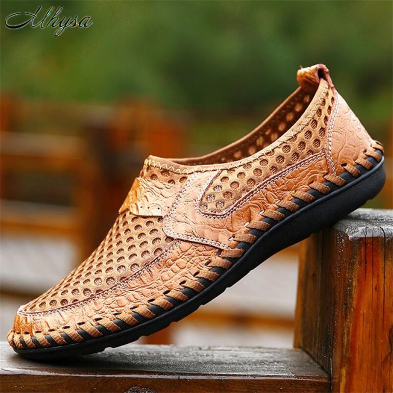 Mhysa 2020 New Men Shoes Summer Breathable Mesh Shoes Mens Casual Shoes Fashion Soft Comfortable Men Shoes Zapatillas Hombre