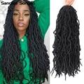 Nu Soft Locs Natural Curly Dreadlocks Hair Dark Omber Faux Locs Crochet Braids Hair 18