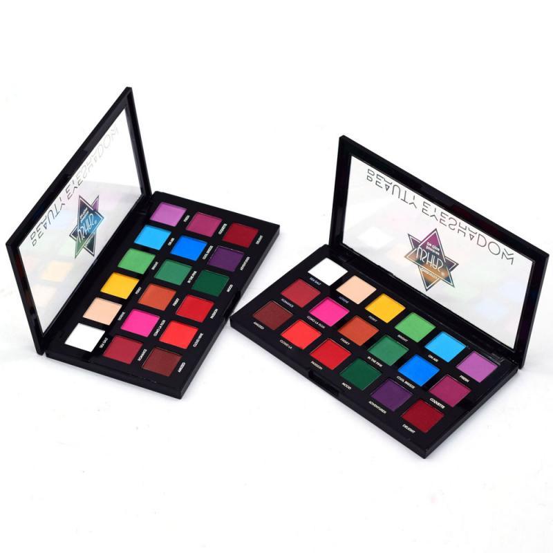 USHAS 18 Colors Eyeshadow Pallete Matte Eyeshadow Nude Eye Shadow Makeup PalleteWaterproof Pigment Long Lasting Sombras TSLM1