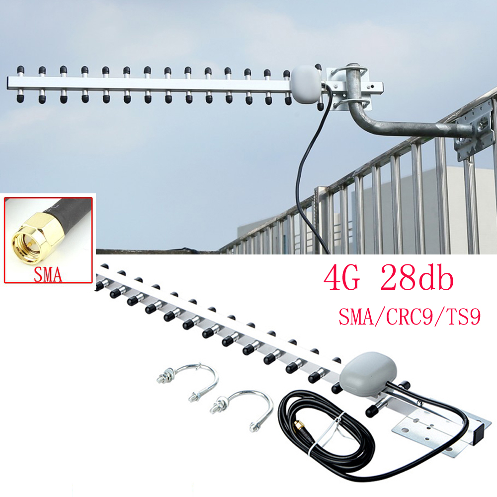 4G 28dBi /2.5G 25dbi High Gain WiFi Antenna Outdoor Yagi Antenna RP-SMA Male Directional Booster Amplifier Modem RG58 1.5m Cable