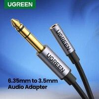 UGREEN 6,5mm zu 3,5mm Kopfhörer Adapter TRS 6,35mm 1/4 Männlichen zu 3,5mm 1/8 Weibliche Stereo Jack audio Adapter für Verstärker Gitarre