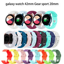 20mm Silicone Strap watch band for Samsung Gear S2 Frontier Classic band Replacemet wrist strap for Samsung Galaxy Watch 42mm(China)
