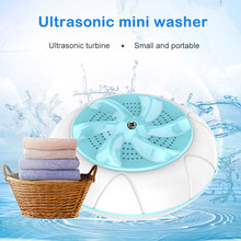 Portable Turbines Washing Machine Laundry Mini Rotating Washer with USB Cable for Travel Home Business Trip OCT998(China)