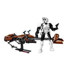 2017 NEW 321 452pcs StarWars Imperial Storm Scout Speeder Bike Building Block 75532 Brick Toys
