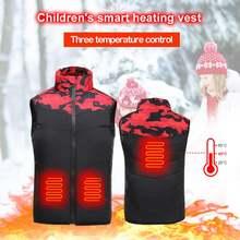 Детский умный теплый хлопковый жилет с usb инфракрасным электрическим