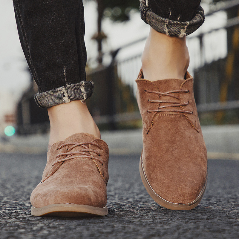 Merkmak Fashion England Trend Casual Shoes Men Flock Oxford Wedding Leather Dress Men Flats Waterproof Men Shoes Plus Siz 2