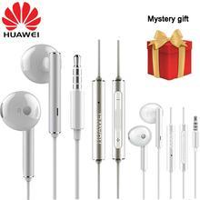 Ban Đầu Huawei Tai Nghe Chụp Tai Am116 Tai Nghe Danh Dự AM115 Mic 3.5Mm Cho Xiaomi Huawei P7 P8 P9 Lite P10 Plus Danh Dự 5X 6X Mate 7 8 9