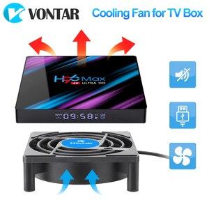 Image 2 - VONTAR – Mini ventilateur de refroidissement C1, pour boîtier TV Android, silencieux, sans fil, cc 5V, alimentation USB, 80mm, 80x80x2