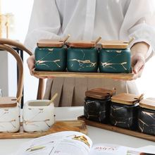 Набор керамических баков для приправ креативный шейкер с мраморным
