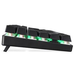 Image 3 - MOTOSPEED CK104 Gaming Keyboard Russian/English Mechanical Keyboard Blue/Red Switch Metal Key LED RGB/Backlit Keyboard for Gamer