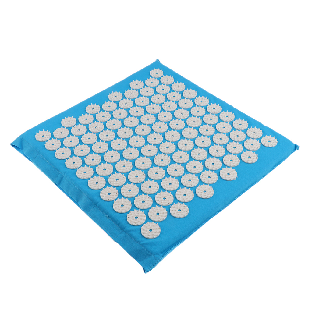 Acupressure Mat Mattress for Back/Body Pain Relieving Relaxation Blue image