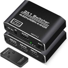 Hdmi2.0 коммутатор с HDMI-камерой, тройной и выходной HDMI-переключатель камеры 3-4k60h38; 8; 8RGB
