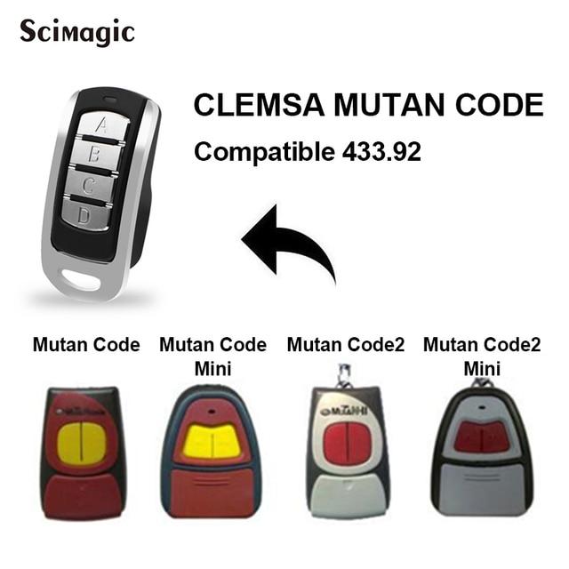 For CLEMSA 433.92MHz remote control CLEMSA MUTAN CODE MINI CLEMSA MASTERCODE MV1 MV12 MV123 Remote garage control door gate