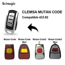 Para el control remoto de 433,92 MHz de CLEMSA MUTAN código MINI CLEMSA mastercódigo MV1 MV12 MV123 Puerta de mando de garaje remoto mando garaje universal multi frecuencia 280 868MHz