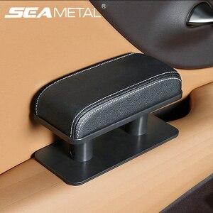 Image 1 - Auto Armlehne Ellenbogen Unterstützung Verstellbare Universal Tür Hand Arm Rest Anti müdigkeit Hand Rest Kissen Mini Leder Box Pad universal