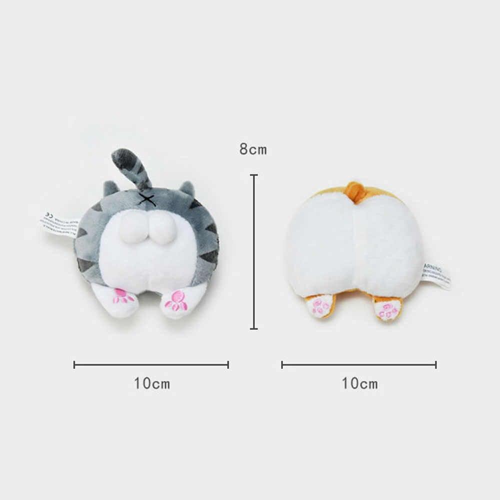 1pc おかしいコーギー猫バットぬいぐるみ充填ステッチぬいぐるみバッグかわいい装飾ペンダントぬいぐるみキーチェーン