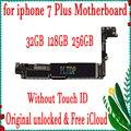 100% оригинальная материнская плата для iPhone 7Plus Заводская разблокированная материнская плата с/без сенсорного ID IOS логическая плата с чипами  ...