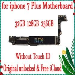 100% oryginalna płyta główna dla iPhone 7Plus fabrycznie odblokowana płyta główna z/bez Touch ID IOS Logic Board z chipami  dobra robota
