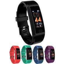 купить HIXANNY Smart Band Alarm Clock Fitness Tracker Heart Rate Blood Pressure Blood Oxygen Monitor Sport Smart Bracelet PK 115plus по цене 846.05 рублей