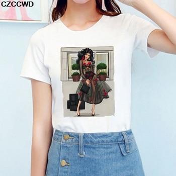 CZCCWD ropa de mujer 2019 Hipster blanco T camisa Harajuku Streetwear moda de princesa camiseta ocio moda mujer camiseta Tops