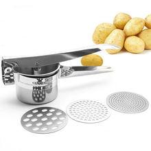 Trituradores de batata e ricers de aço inoxidável cozinha cozinhar ferramentas manual espremedor pressão lama purê frutas vegetais imprensa