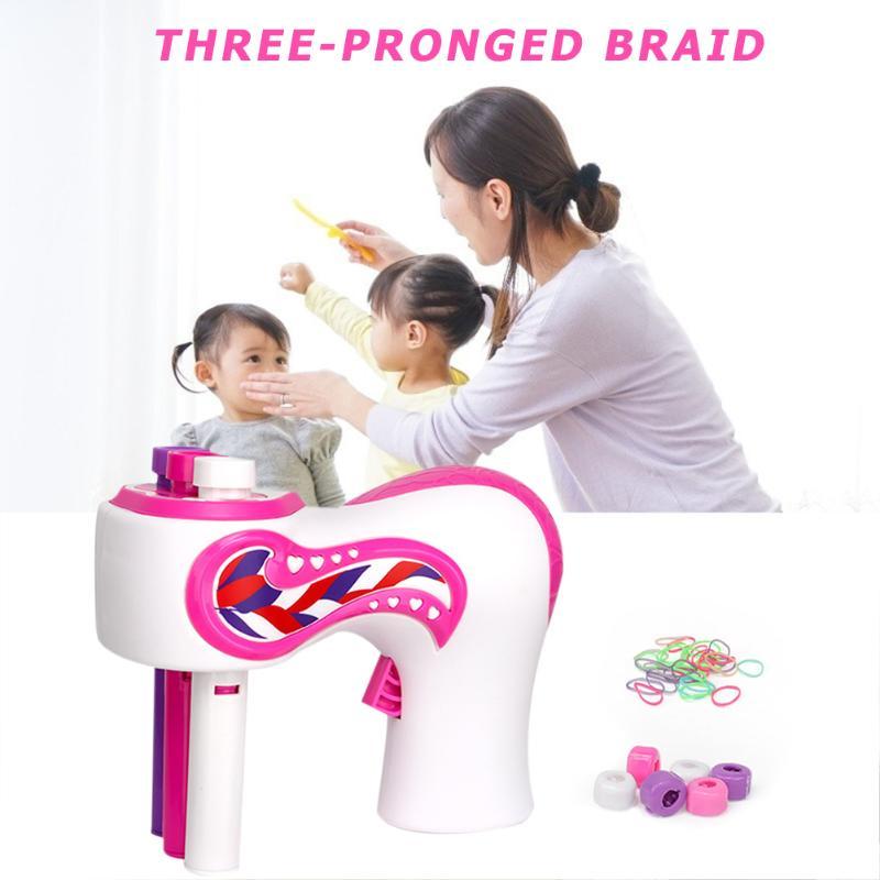 Купить с кэшбэком Electric Automatic Hair Braider Three Strands Hair Braiding Machine DIY Hair Styling Tools Adult Kids Hair Braiding Tools