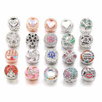 2019 New 1 Piece Column Shape Beads Pendants Alloy Beads Big Hole Pendants Diy Necklace Bracelets for Jewelry Making Hole 5mm