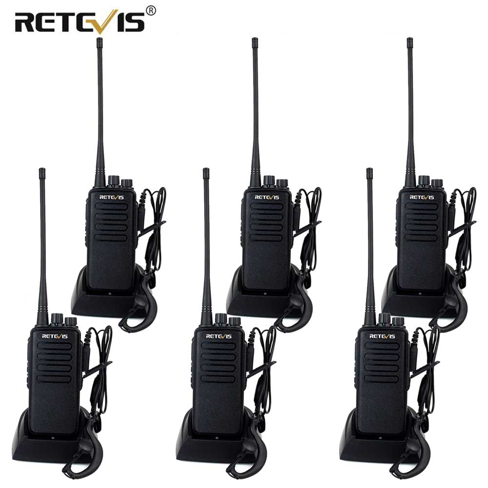 High Power Walkie Talkie 6pcs Retevis RT1 VHF (or UHF) VOX 3000mAh Twelve Antenna Two Way Radio Long Range Handy Walkie-Talkie