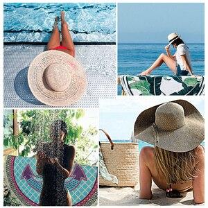 Image 5 - Bénédiction serviette de plage ronde, grande taille, pour adultes, couverture de protection du soleil, en microfibre, pierre rocheuse, livraison directe