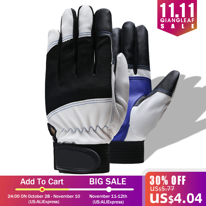 QIANGLEAF Hot Sale Safety Cycling Gloves Motorcycle Glove Motocross Gloves Sport Bike Protective Work Glove 7-B
