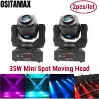 2pcs/lot Spot Lyre 35w Mini LED Moving Head Light DMX512 Brightness Gobo Wash Light for Stage Disco LED DJ Spot Light